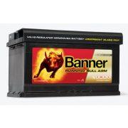 Banner Running Bull 12V 80Ah AGM 580 01  Start-Stop akkumulátor Jobb+
