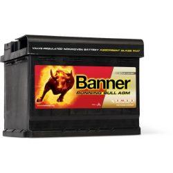 Banner Running Bull 12V 60Ah autó akkumulátor EFB 56001 jobb+
