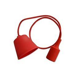 V-TAC E27 függő lámpatest piros színű