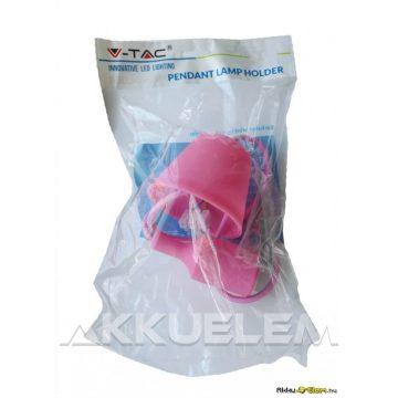V-TAC E27 függő lámpatest rózsaszín