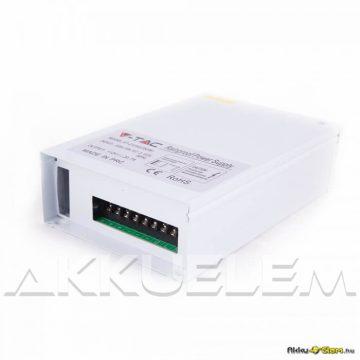 V-TAC 400W 12V LED tápegység esőálló, fémházas