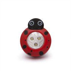 Gyermek éjjelifény lámpa KATICA figurás, nyomógombos