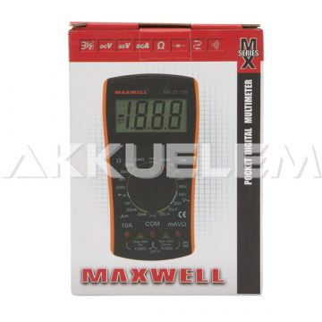 Maxwell Digitális multiméter mini 25109