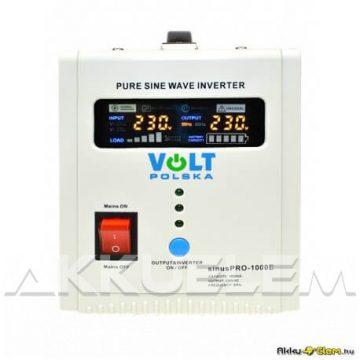 VOLT Polska SinusPRO 1000E 700W 12V inverter/szünetm. tápegység