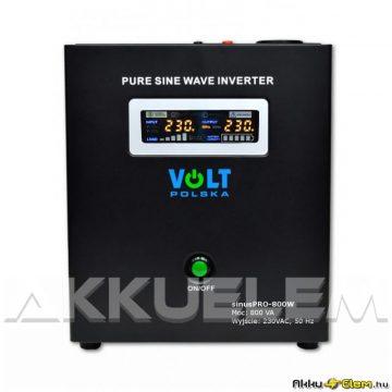 VOLT Polska SinusPRO 800W 500W/max.800VA 12V inverter/szünetm. tápegység