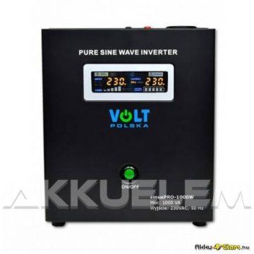 VOLT Polska SinusPRO 1000W 1000VA 700W 12V inverter/szünetm. tápegység