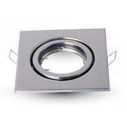 V-TAC GU10 LED-izzó keret kerek-szögletes, króm színű