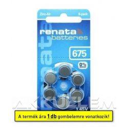 Renata ZA675 PR44 hallókészülék elem (ár/db)