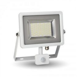 V-TAC 30W 2400lm reflektor mozgásérzékelős, fehér színű