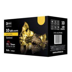 Aranyharang karácsonyi fényfüzér fémből, 10LED 0,6W beltéri
