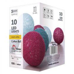Pamutlabda fényfüzér 10LED 0,6W téli színek