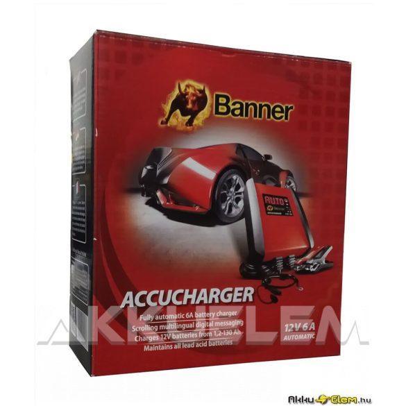 Banner 12V 6A autó akkumulátor töltő