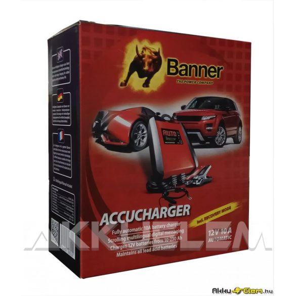 Banner 12V 10A autó akkumulátor töltő