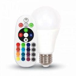 V-TAC 6W E27 opál LED-izzó 470lm 6400K távirányítós