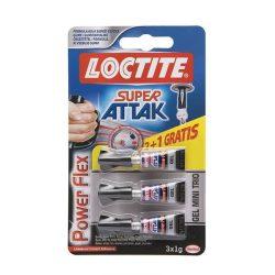 Loctite SuperAttak 3x1g pillanatragasztó