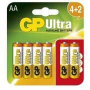 GP 15AU 1,5V AA LR6 Ultra alkáli elem 6db-os csomagban