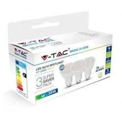 V-TAC 5W GU10 400lm 3000K LED-izzó 3 db/doboz