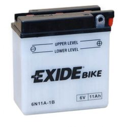 Exide 6V 11Ah 95A 6N11A-1B jobb+ motor akku