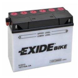 Exide 12Y16A-3A motorkerékpár akkumulátor 12V 20Ah 210A JOBB+