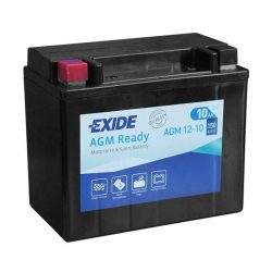 Exide AGM12-10 motorkerékpár akkumulátor 12V 10Ah 150A JOBB+