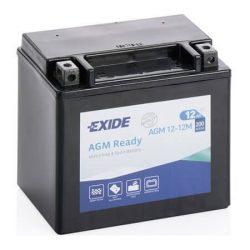 Exide AGM12-12M motorkerékpár akkumulátor 12V 12Ah 200A JOBB+