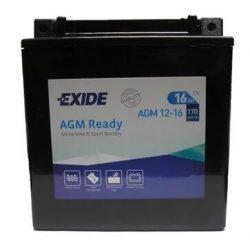 Exide AGM12-16 motorkerékpár akkumulátor 12V 16Ah 170A JOBB+
