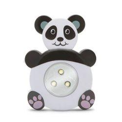 Gyermek éjjelifény lámpa PANDA figurás, nyomógombos