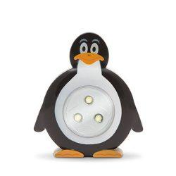 Gyermek éjjelifény lámpa PINGVIN figurás, nyomógombos