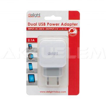 Adapter 2xUSB 1000mA-2100mA 5V Delight