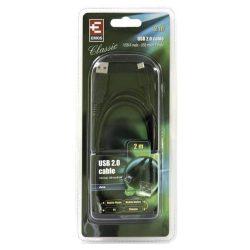 USB-microUSB kábel USB2.0 2 m 480MBs, fekete