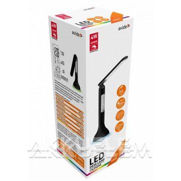 Avide CALENDAR 4W 250lm asztali lámpa naptáras, RGB-hangulatfényes, fekete színű