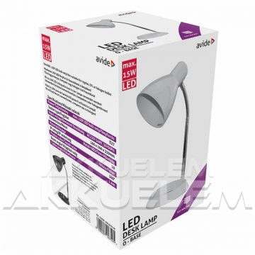 Lámpa BASIC 4W asztali lámpa O talpú, FEHÉR színű + LED-izzó Avide