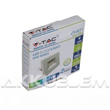 V-TAC 10W 850lm 3000K LED-reflektor fehér színű burkolat, meleg fehér fény