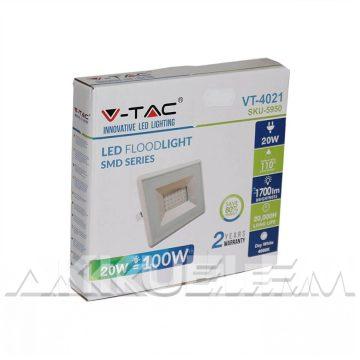 """V-TAC """"E-széria"""" 20W 1700lm 4000K LED-reflektor fehér színű"""