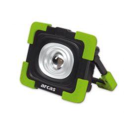 Arcas 10W 800lm LED-reflektor tölthető, fekete/zöld színű