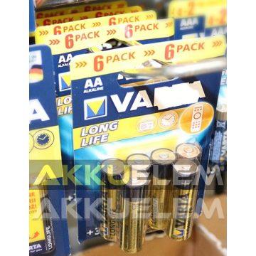 Varta LR6 AA alkáli elem 6db-os csomagban