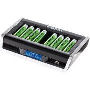 Varta 8xAA/AAA LCD multi akkumulátor töltő USB portos csak töltő!
