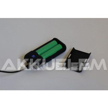 Akkutöltő-powerbank XTAR PB2 2A | Li-ion 18650 akkukhoz
