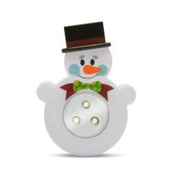 Gyermek éjjelifény lámpa hóember alakú