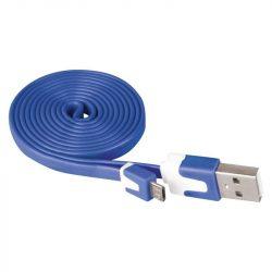 USB-microUSB kábel 1m KÉK színű, USB2.0