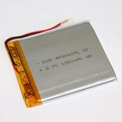 Li-Po akkumulátor 3,7V 1250mAh 405060 vezetékes, beszerelhetŐ