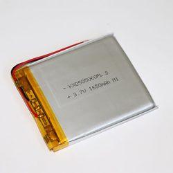 Li-Po akkumulátor 3,7V 1650mAh 505060 vezetékes, beszerelhető