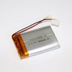 Li-Po akkumulátor 3,7V 1800mAh 103450 vezetékes, beszerelhető