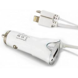 Autós adapter iPhone USB microUSB 5V 1000mA-2A 12-24V