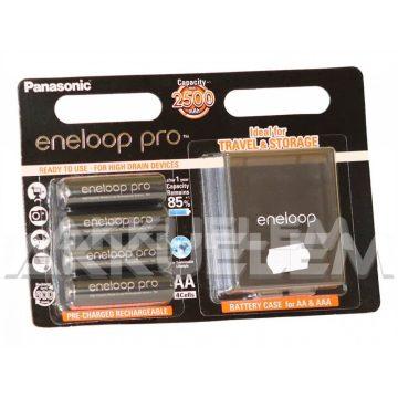 Eneloop PRO 2500mAh AA NiMH akkumulátor 4db/bliszter + AJÁNDÉK tárolódoboz