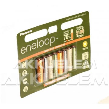 Eneloop Expedition AAA 750mAh NiMh akku 8db ár/bliszter