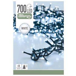 Kültéri fényfüzér 700LED karácsonyi IP44 14m fehér 8 funkció