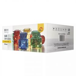 Karácsonyi fényfüzér színes üvegecskék 18LED 0,6W  ZY2132