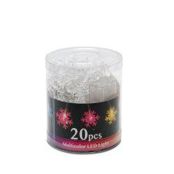 Karácsonyi fényfüzér HÓPEHELY 20LED 2m elemes, beltéri 56501D