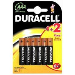 Duracell MN2400 LR03 AAA Basic elem 4 + 2db AJÁNDÉK ár/bliszter